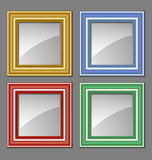 Colored frames Stock Photography