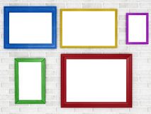 Colored frames Royalty Free Stock Images