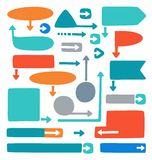 Colored frames and arrows for infographics and diagrams. Stock Photo