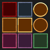 Colored frames collections. Vector illustration Royalty Free Stock Images