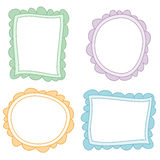 Colored frames Drawings. Drawing of different color frames Royalty Free Illustration