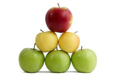 Colored fresh apples Royalty Free Stock Image