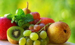 Colored fresh fruits . Stock Photos
