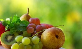 Colored fresh fruits . Royalty Free Stock Image