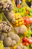 Colored fresh fruits on sale in fruits market, Brazil Stock Photos