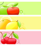 Colored fruit backgrounds Royalty Free Stock Images