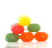 The colored fruit taste candies.sweet food concept Stock Photo