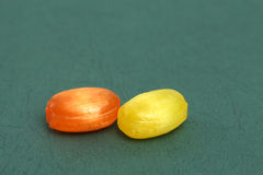 The colored fruit taste candies.sweet food concept Royalty Free Stock Photography