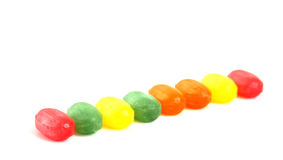 The colored fruit taste candies.sweet food concept Royalty Free Stock Images