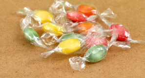 The colored fruit taste candies.sweet food concept Stock Images