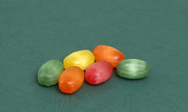 The colored fruit taste candies.sweet food concept Royalty Free Stock Photo