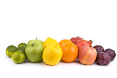 Colored fruits stock photos