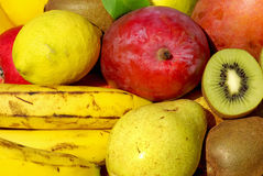 Colored fruits . Royalty Free Stock Images