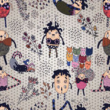 Colored Funny Characters Seamless Pattern. Funny Characters Seamless Pattern for textile design, bakcgrounds etc Stock Images