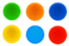 Colored Fur Hair Balls. 3d Rendering Royalty Free Stock Photography