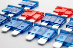 Colored fuses Stock Images