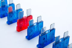 Colored fuses Royalty Free Stock Image