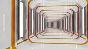 Colored futuristic corridor Stock Photos