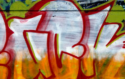 Colored Gaffiti. Graffiti spray painted on a wall stock images