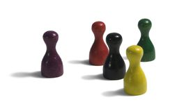 Colored gaming figures Stock Photography