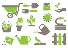 Colored gardening icons. Vector illustration vector illustration