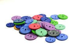 Colored gears Royalty Free Stock Image