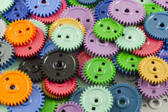 Colored gears Stock Photography