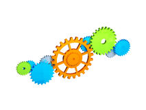 Colored gears Stock Image