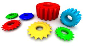 Colored gears Stock Photo