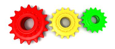 Colored gears Stock Photos