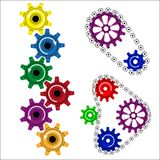 Colored gears Royalty Free Stock Photo