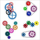 Colored gears Royalty Free Stock Images