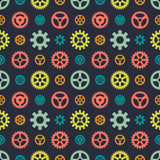 Colored gears seamless pattern Stock Photo