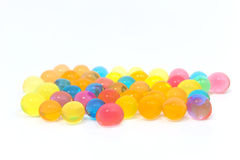 Colored gel balls Stock Photography