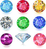 Colored gems Royalty Free Stock Photo