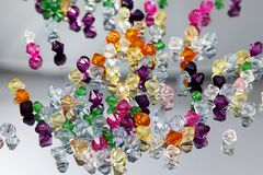 Colored Gems Royalty Free Stock Photography