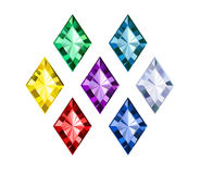 Colored gems. On white background vector illustration
