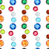 Colored gemstone seamless pattern Royalty Free Stock Photo