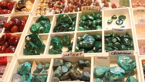 Colored gemstones stock video