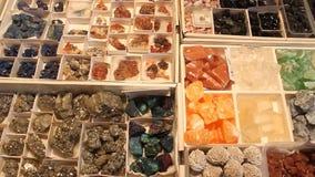 Colored gemstones stock footage