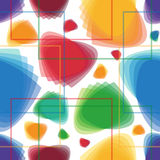 COLORED GEOMETRIC ABSTRACT FLOWERS Royalty Free Stock Photography