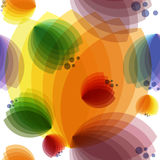 COLORED GEOMETRIC ABSTRACT FLOWERS ON A WHITE Royalty Free Stock Image