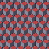 Colored geometric abstract surface pattern. 3d rendering Royalty Free Stock Image