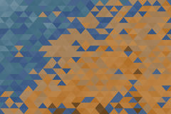 Colored geometric background. Triangular geometric background in warm and cold colors Stock Photo