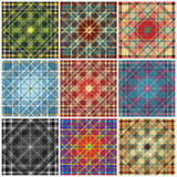 Colored geometric lines background collection of vector illustration Royalty Free Stock Images