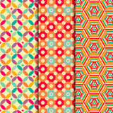 Colored geometric patterns background Stock Photography