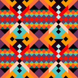 Colored geometric polygons seamless pattern stock illustration