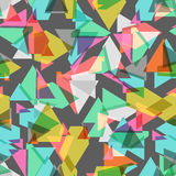Colored geometric seamless background Stock Image