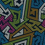 Colored geometric seamless pattern Royalty Free Stock Images