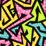 Colored geometric seamless pattern Royalty Free Stock Photos